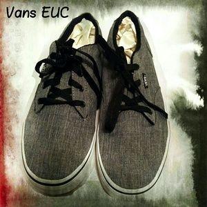 Vans Grey Mens 7 womens 9 EUC